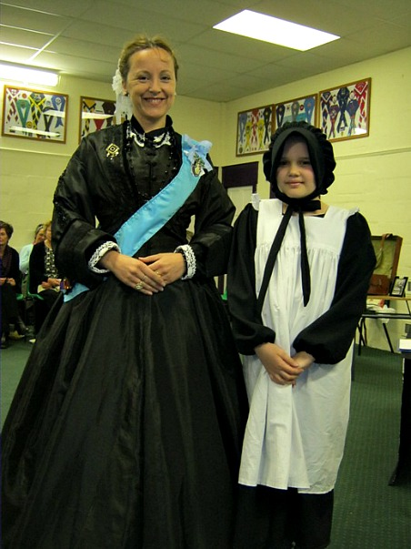 Rachel Duffield dressed as Queen Victoria
